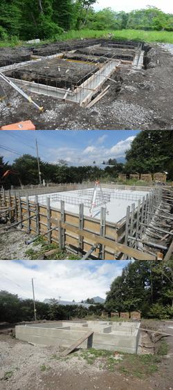 地縄張り・地鎮祭/コンクリート基礎工事